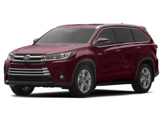2017 Toyota Highlander hybride VUS Ooh la la rouge mica