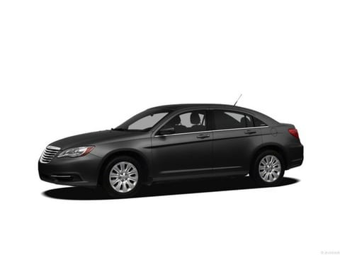 2012 Chrysler 200 Sedan Black Clearcoat