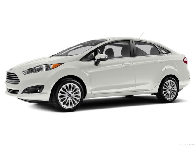 Ford Fiesta 2014 White Sedan