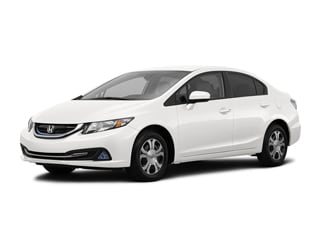 2015 Honda Civic Hybrid Sedan White Orchid Pearl