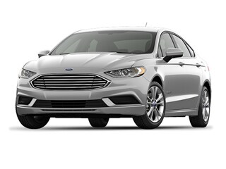 2018 Ford Fusion Hybrid Sedan White Platinum Metallic Tri