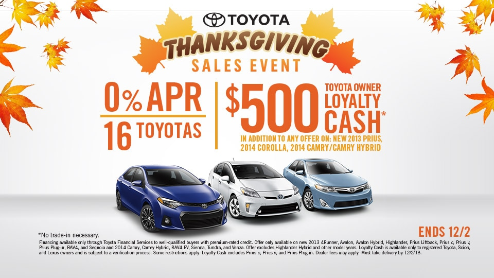 2013 Toyota Black Friday | Thanksgiving Specials