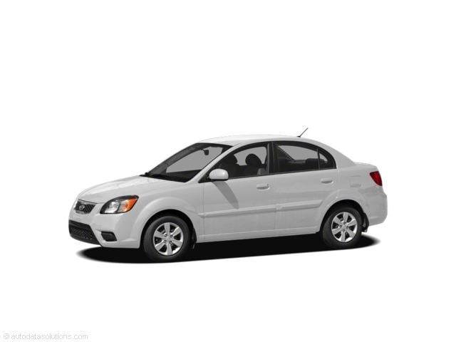 2011 Kia Rio Sedan regular unleaded Front-wheel Drive Clear White