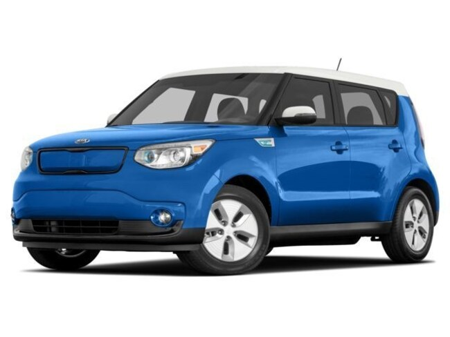 2016 Kia Soul EV EV Hatchback AT [WL] Electronic Blue/Polar White Two-Tone