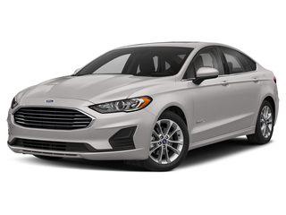 2019 Ford Fusion Hybrid Sedan White Platinum Metallic Tri-Coat