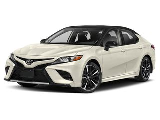 2019 Toyota Camry Sedan Midnight Black Metallic/Wind Chill Pearl