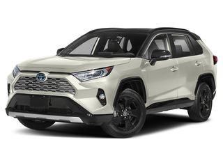 2019 Toyota RAV4 Hybrid SUV Blizzard Pearl w/Black Roof