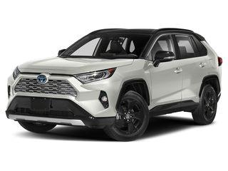 2020 Toyota RAV4 Hybrid SUV Blizzard Pearl w/Midnight Black Roof