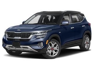 2021 Kia Seltos SUV Dark Ocean Blue/Black Roof
