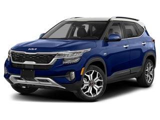 2022 Kia Seltos SUV Dark Ocean Blue/White Roof