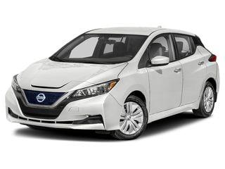 2022 Nissan LEAF Hatchback Pearl White