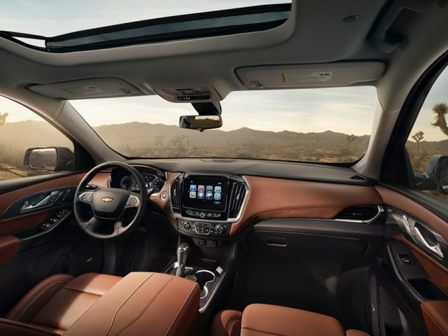 Interior of a New 2018 Chevy Travers Byron GA
