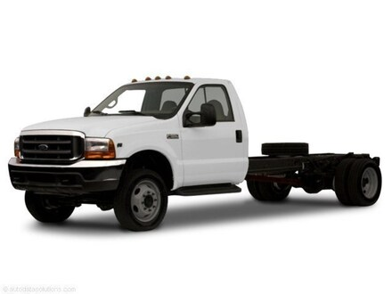 2001 Ford F-550 Chassis XL Regular Cab, 14ft Flat Bed, 7.3L Power Stroke D Truck Regular Cab