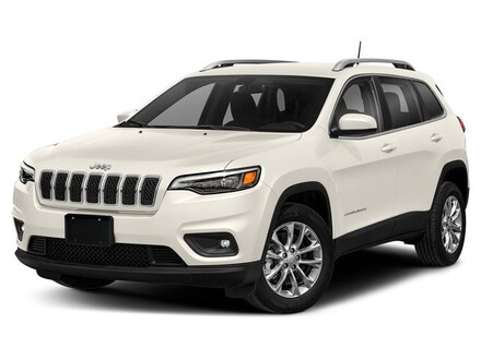 New 2019 Jeep Cherokee LATITUDE PLUS 4X4 bright white exterior black interior 0 miles VIN 1C4PJ