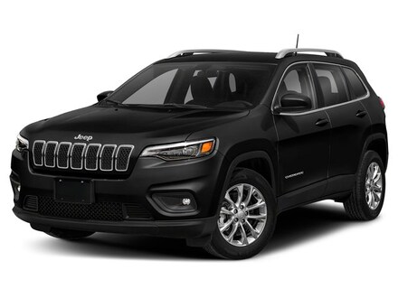 New 2019 Jeep Cherokee LATITUDE PLUS 4X4 olive green pearlcoat exterior black interior VIN 1C4PJ