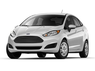 2017 Ford Fiesta Sedan White Platinum Metallic Tri
