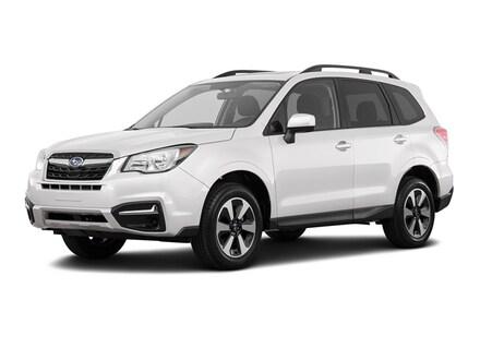 Certified 2018 Subaru Forester 25i Premium ice silver metallic exterior black interior 25l h-4
