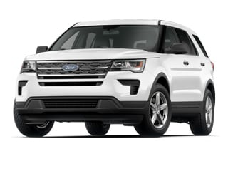 2018 Ford Explorer SUV White Platinum Metallic Tri