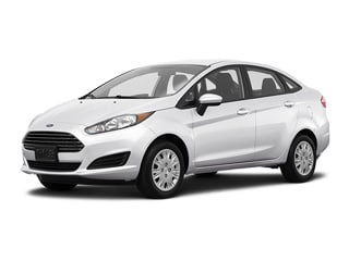 Ford Fiesta Sedan White Platinum Metallic Tri