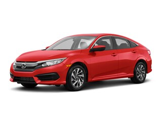 New 2018 Honda Civic EX CVT Sedan JH595281 for sale near Fort Worth TX