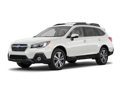 New 2018 Subaru Outback 2.5i Limited with EyeSight, Navigation, High Beam Assist, Reverse Auto Braking, LED Headlights, Steering Responsive Headlights, and Starlink SUV 4S4BSANCXJ3200620 in Cheyenne, WY at Halladay Subaru
