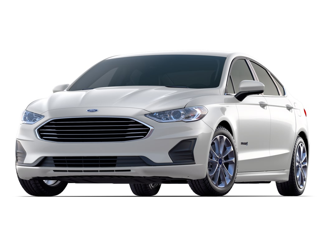 2019 Ford Fusion Hybrid Sedan White Platinum Metallic Tri Coat