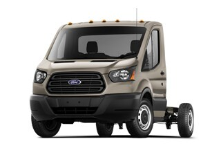 2019 Ford Transit-250 Cab Chassis Truck White Gold Metallic