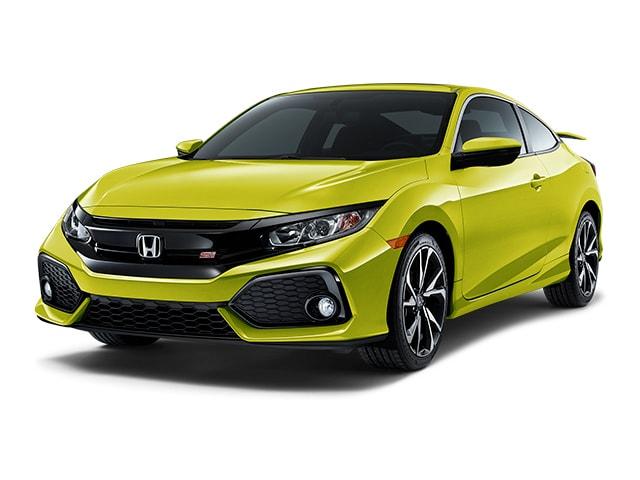 Tonic Yellow Pearl 2019 Honda Civic Sedan at an angle