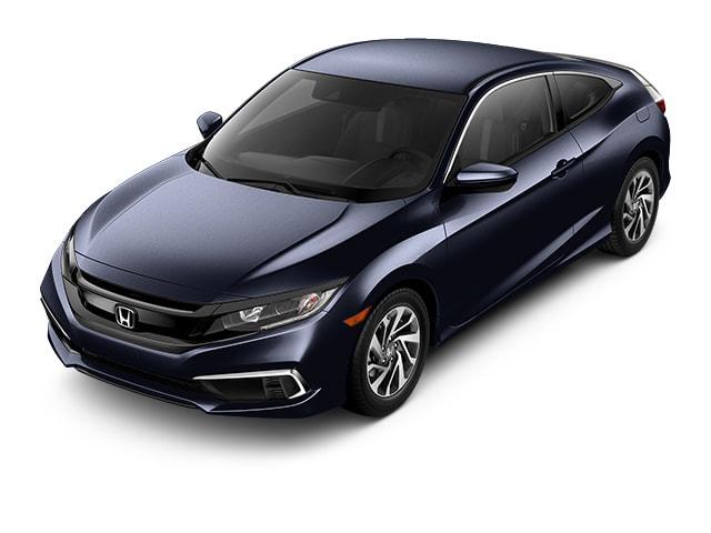 Cosmic Blue 2019 Honda Civic Sedan at an angle
