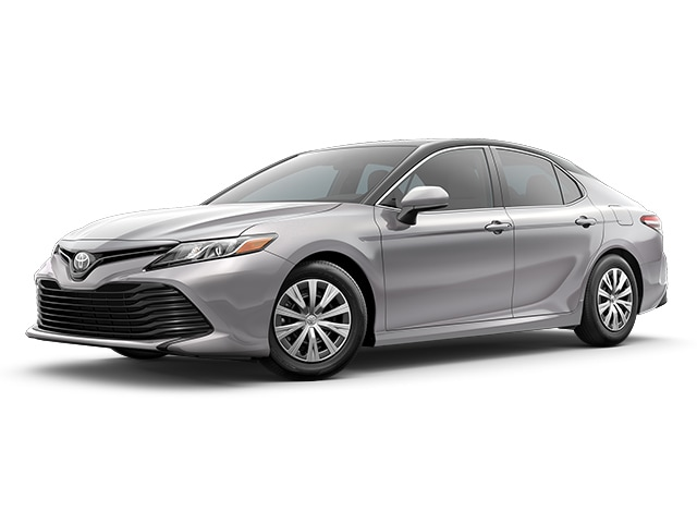 2019 Toyota Camry in Celestial Silver Metallic with Midnight Black Metallic Roof and Rear Spoiler color