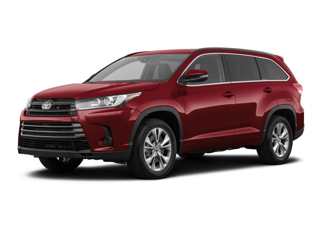 2019 Toyota Highlander in Salsa Red Pearl color