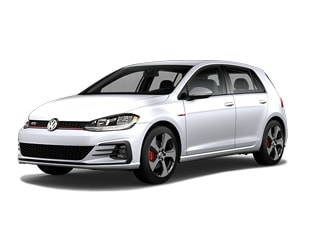 2019 Volkswagen Golf GTI Hatchback White Silver Metallic