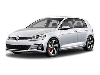 2021 Volkswagen Golf GTI Hatchback White Silver Metallic