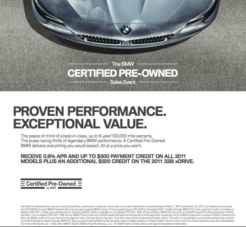 BMW Certified Offer - September & October