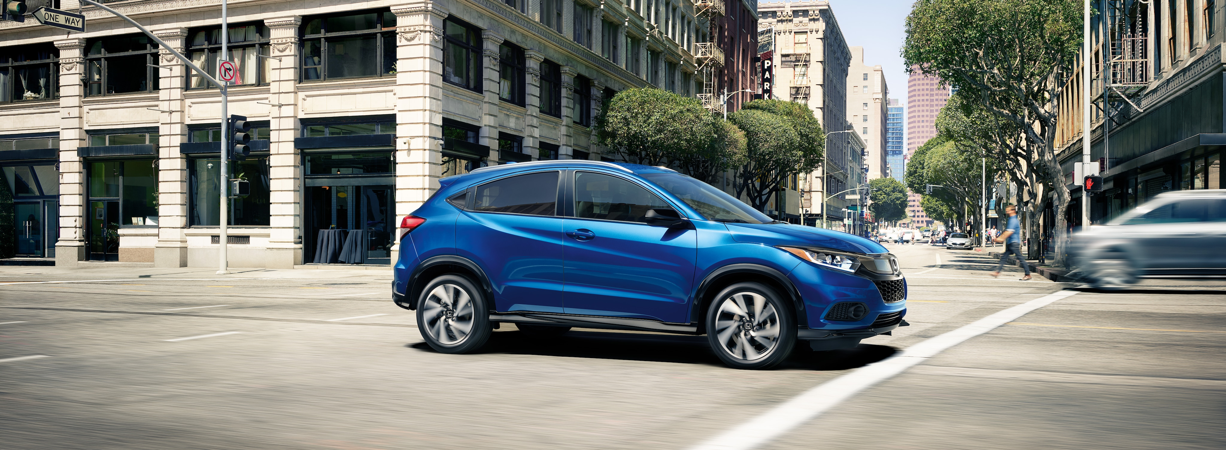 blue honda hr-v SUV