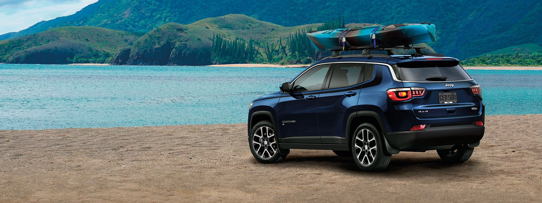 2020 Jeep Compass With Canoe On Roof Rack