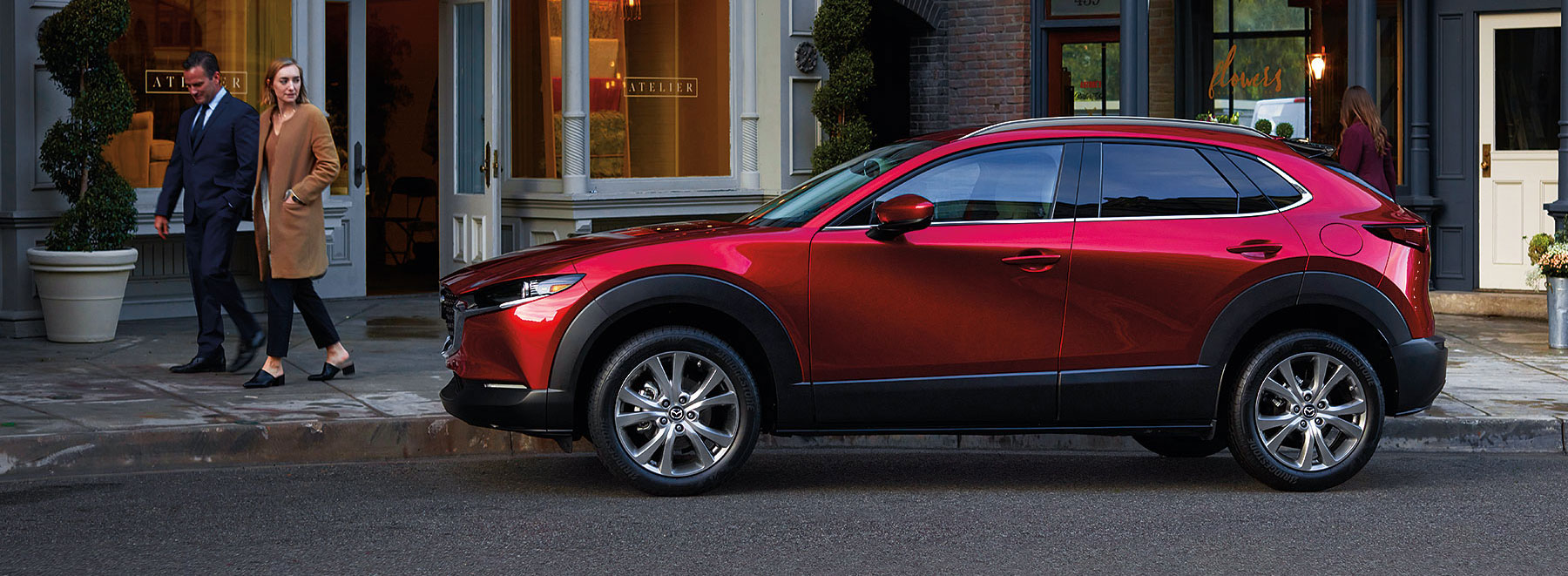 Mazda CX-30 SUV Red Driver Side Profile View