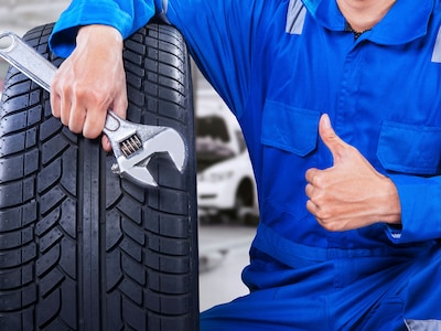 Complimentary Brake and Tire Tread Inspection