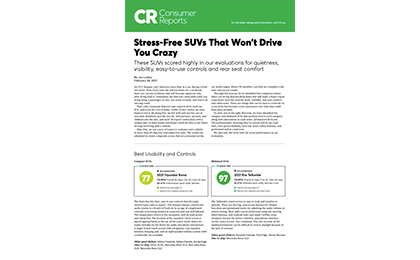 Stress Free SUV's