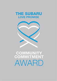 The 2021 Subaru Love Promise Community Commitment Award