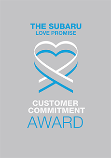The 2021 Subaru Love Promise Customer Commitment Award