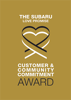 The 2020 Subaru Love Promise Customer and Community Commitment Award