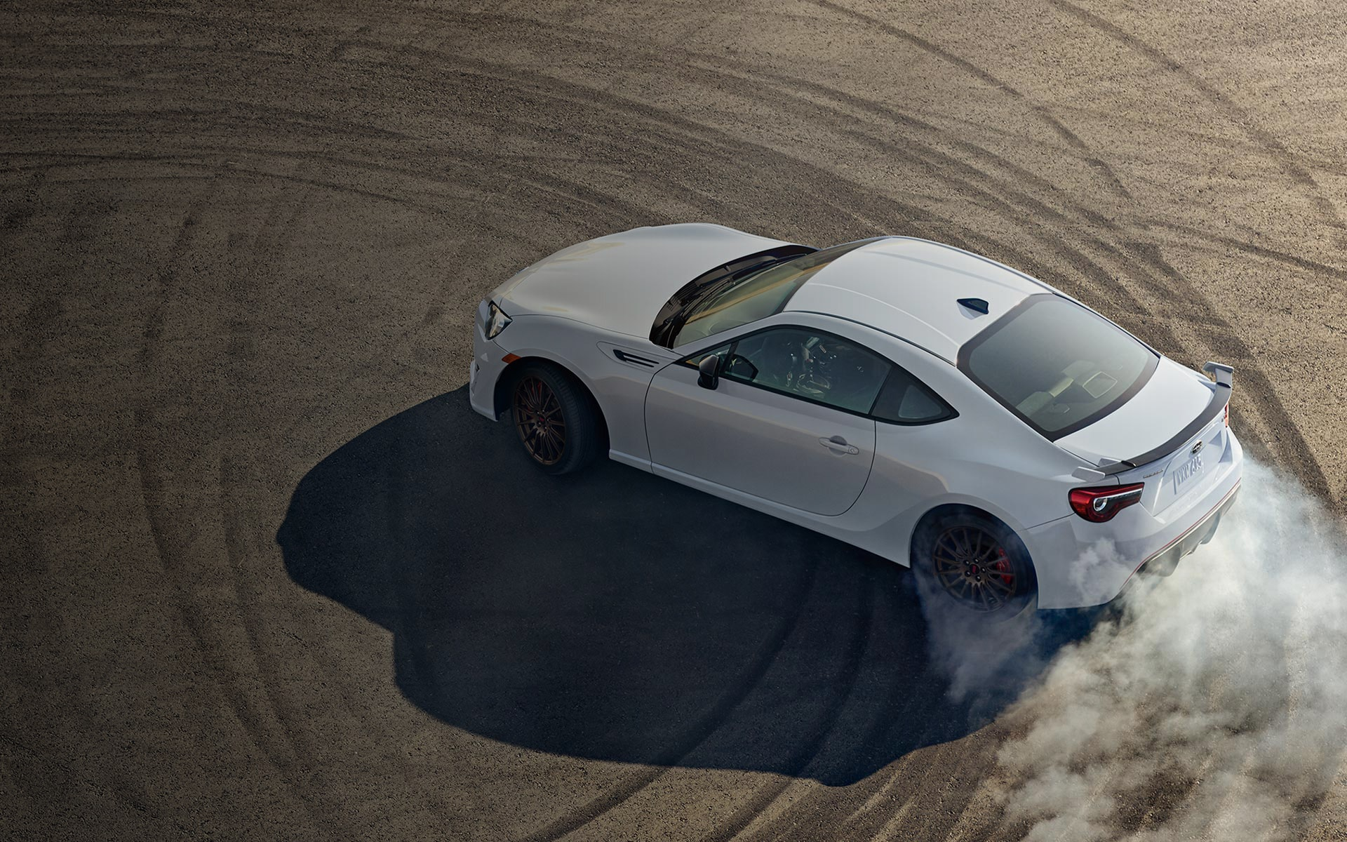 A 2020 BRZ tS on a racetrack.