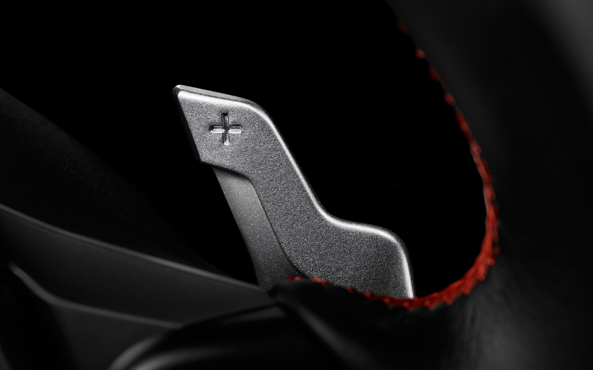 A close-up of the paddle shifters for the 6-speed automatic transmission available in the 2020 BRZ.