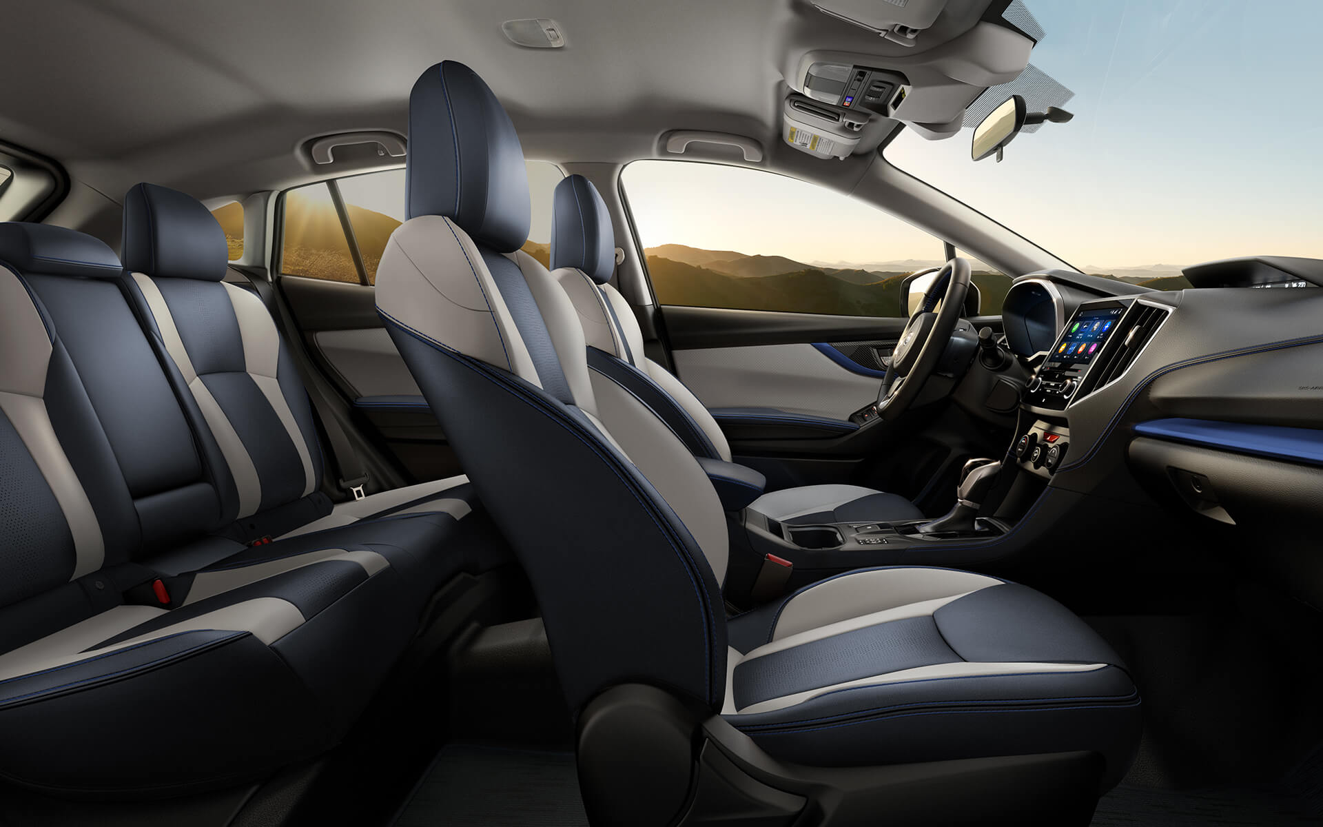 A view of the spacious interior and exclusive design of the 2020 Crosstrek Hybrid.