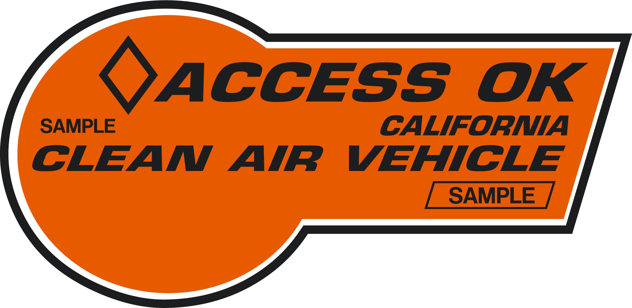 An example of a HOV-lane access sticker available to eligible 2020 Crosstrek Hybrid owners in certain states.