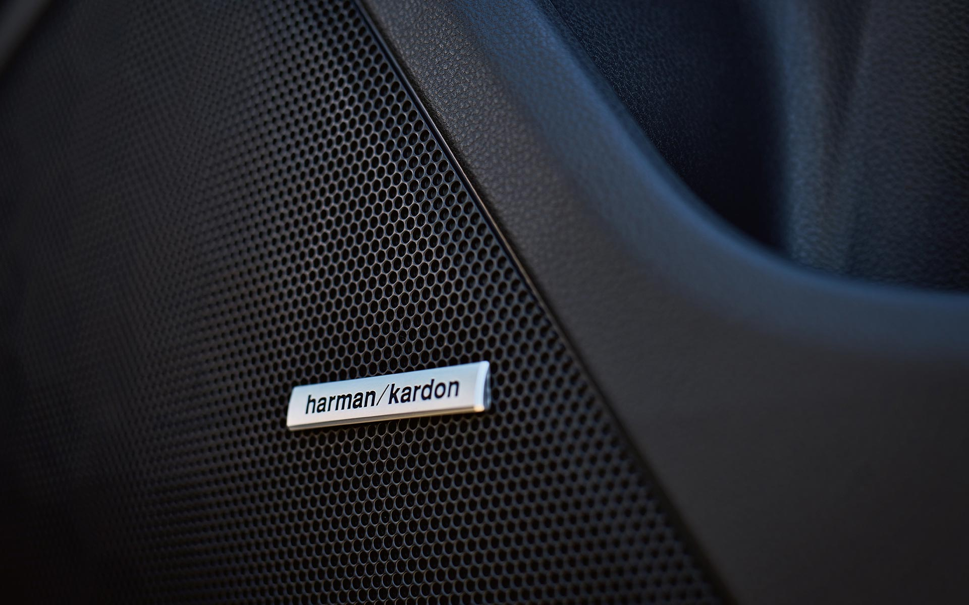 A close-up of one of the Harman Kardon® Premium Audio speakers in a 2020 Impreza.