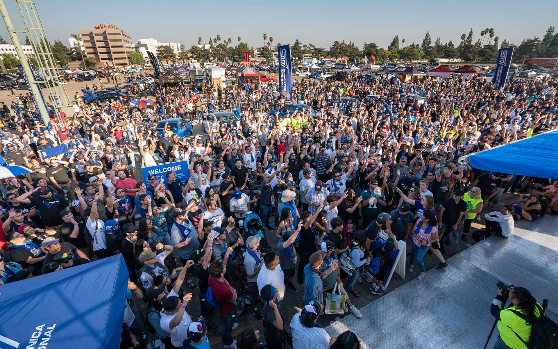 Crowd at Subaru STI event