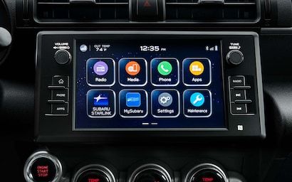 A close up of the SUBARU STARLINK® multimedia screen.