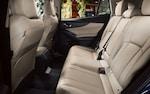 An interior photo showing the spacious rear seats of the 2022 Impreza.